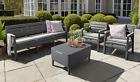 Keter Allibert Delano Garden Furniture Lounge Set, Graphite