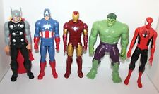 The Avengers Hulk Iron Man Spider-Man Thor Captain America Action Figures 12""