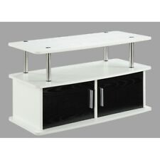 Convenience Concepts Designs2Go Deluxe 2 Door TV Stand, White - 151165W