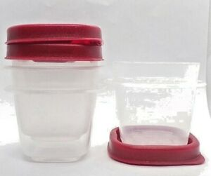 Rubbermaid Easy Find Lids Square 1/2-cup 118 ML Food Storage Container 3 Pieces