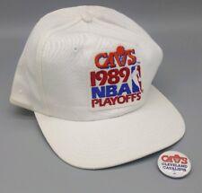 Vintage CLEVELAND CAVS 1989 Playoffs SNAPBACK CAP Hat Twins Cavaliers 80s RARE