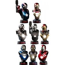 NEW HOT TOYS Bust Iron Man 3 DELUXE SET OF 8 with MARK 42 1/6 Bust Figure Japan