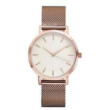Classic Women's Men's Wrist Watch Steel Strap Quartz Casual Watches Rose Gold