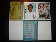 2 Diff. Rare 1990 Topps Bernie WILLIAMS ROOKIE ERROR CARDS +1992-Yankees HOF
