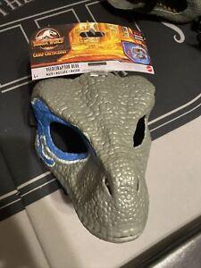 Jurassic World Velociraptor BLUE Dinosaur Dino Mask - Camp Cretaceous NEW