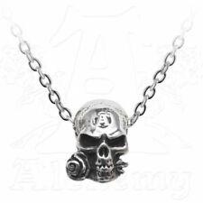 *ALCHEMIST AMULET* Alchemy Gothic 1977 Skull Talisman Pewter Pendant (P815)
