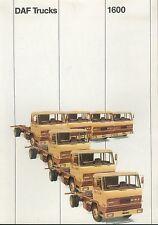 DAF 1600 Trucks Prospekt NL brochure 1970 Nutzfahrzeug Niederlande Europa Lkw