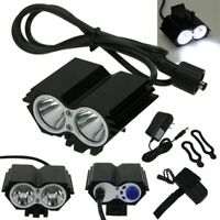 5000 Lumens 2x CREE XM-L U2 LED Cycling Bike Bicycle Light Headlamp HeadLight BP