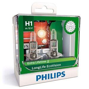 Philips 12258LLECOS2 - Eco Vision H1 Globe 12V 55W (2Pk) Longlife fits Hyunda...