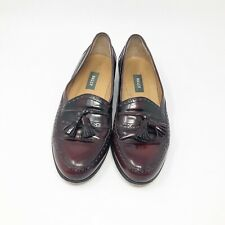 Bally Men Size 9D Maroon Colored Leather Shoes