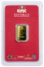 Republic Metals Corp 2.5 gram Gold Bar (Sealed with Red Assay Card) SKU45740