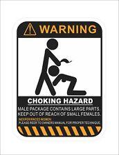 Coking Hazard Warning Vinyl Danger Hard Hat Sticker Decal Motorcycle Car Decor