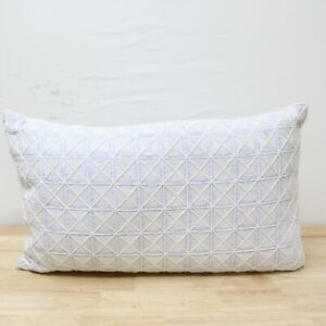 "Hotel Collection 14"" x 26"" Decorative Pillow Frame Blue J0Z202"