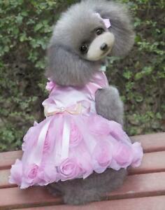 Dog clothing pet skirts spring summer thin pet Dress New Rose Dress Dress