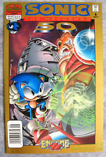 SONIC THE HEDGEHOG #50 VHTF NEWSSTAND Variant Excellent Copy! Archie Adventure