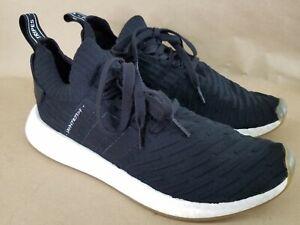 adidas NMD R2 R_2 Core Men 10.5 Black White Gum Japan Pack PK Primeknit BY9696