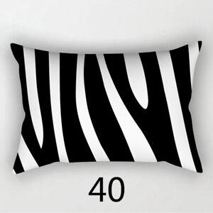 30*50cm Simple Black White Geometric Pillowcases Throw Pillow Cushion Cover ca