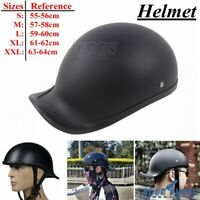 Novelty Low Profile Motorcycle Skull Cap Half Face Helmet For Chopper Cruisers