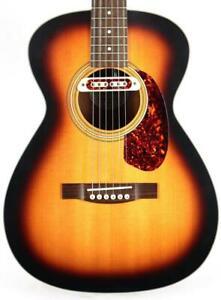 Guild M-240E Troubadour Sunburst Solid Top Acoustic Electric Guitar w/ Gig Bag