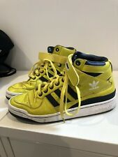 Vintage Adidas Hi -top High Sneakers Velcro Yellow Retro