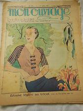 MON OUVRAGE  1936 n°321 gant sac gouter enfent napperon point plumetis