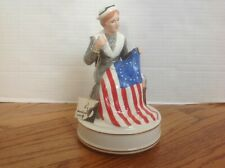 Betsy Ross Musical Schmid Battle Hymn of the Republic Music Box & Tag Vgc Flag
