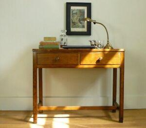 Gordon Russell Vintage Oak Two Drawer Desk Side Table