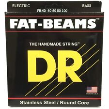 DR FB-40 Fat Beams Round Core Stainless Steel Lite Bass Strings (40-100) MM-40