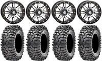 """STI HD9 14"""" Beadlock Wheels MH 30"""" Roxxzilla 396 Tires Can-Am Renegade Outlander"""