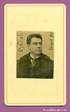 CDV DUPONT : EUGÈNE BADIALI, CHANTEUR OPÉRA-COMIQUE, THÉÂTRE VERS 1880-J72