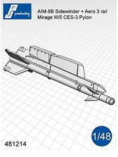 PJ Production 481214 1/48 AIM-9B Sidewinder with pylon resin missiles