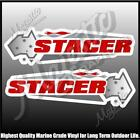 STACER - 450mm X 140mm X 2 - LEFT & RIGHT PAIR - BOAT DECALS