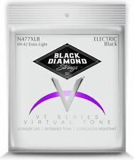 Black Diamond NPS8 Black Coated Nickel electric guitar strings; gauges 9-42