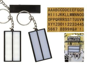 Light Up Display Board on a Keyring With 75 Letters & Symbols Keychain Key Ring