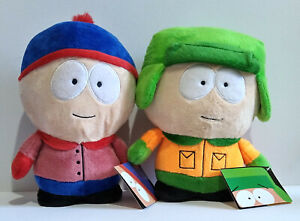 South Park Soft Toy Plushes x 2 - Kyle & Stan - Dino Toys.