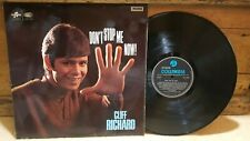 * CLIFF RICHARD * DON'T STOP ME NOW! * VINYL LP * COLUMBIA 1967 PRESSING *
