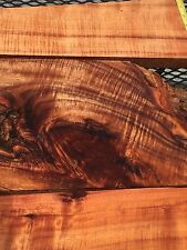 "Reclaimed Ultra Premium 4A Curly Koa Wood 3@13-21""x2-9x1"""