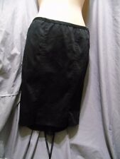 Lip Service blacklist Core stretch Sateen knee skirt l laced up  back