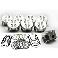 Speed Pro/TRW Chevy 350/5.7 Forged Flat Top Coated Skirt Pistons+MOLY Rings STD