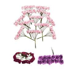 S2 144 Stk. Mini Papier Rose Hochzeit Blumen fuer Handwerk Hochzeitsbevorzugungs