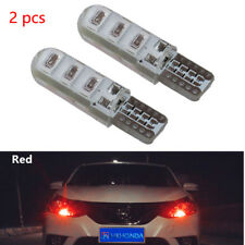 2pcs Red T10 6SMD Car Silica Gel LED Wedge Light Plate License 194 2825 501 Bulb