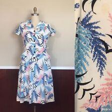 Vintage 1940s Plus Size Novelty Print Dress
