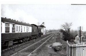 Rail Photo GWR 460 Hall 6961 Maidenhead nr station signal box Berkshire