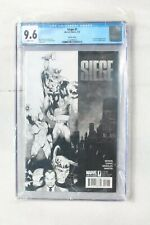 Marvel SIEGE #1 Sketch Variant Edtion Comic Cover CGC 9.6 NM