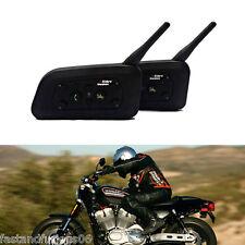 2X BT 1200M Bluetooth Motos Helmet Interphone Intercom Headset 6 Riders EU Plug