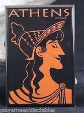 "Athens Vintage Travel Poster 2"" X 3"" Fridge / Locker Magnet. Greece"