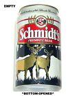 1990's SCHMIDT 125yr GOLD BUCK+DOE PREMIUM BEER CAN LACROSSE, WISCONSIN HEILEMAN