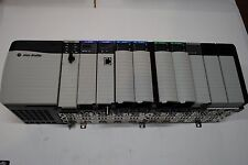 ALLEN BRADLEY CONTROLLOGIX LOADED 10 SLOT RACK COMPLETE  SYSTEM