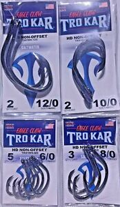 TROKAR TK619HI 6/0 -12/0 NON-OFFSET PICK Eagle Claw  Circle  Fedex 2 Day Read