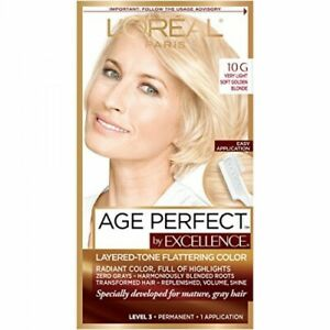L'Oreal Age Perfect Excellence 10G Very Light Soft Golden Blonde Permanent Color